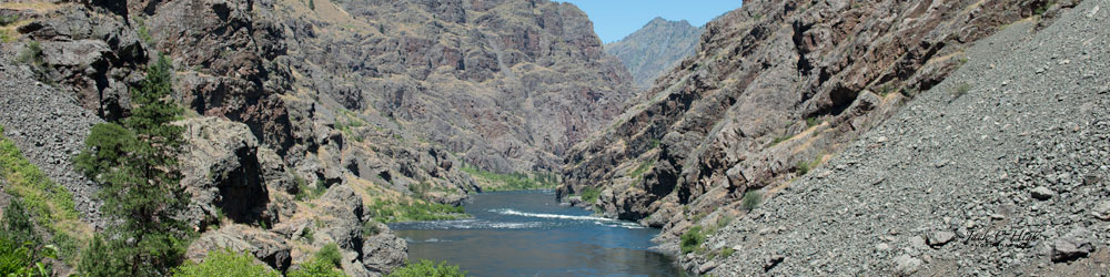 Snake River running through Hells Canyon