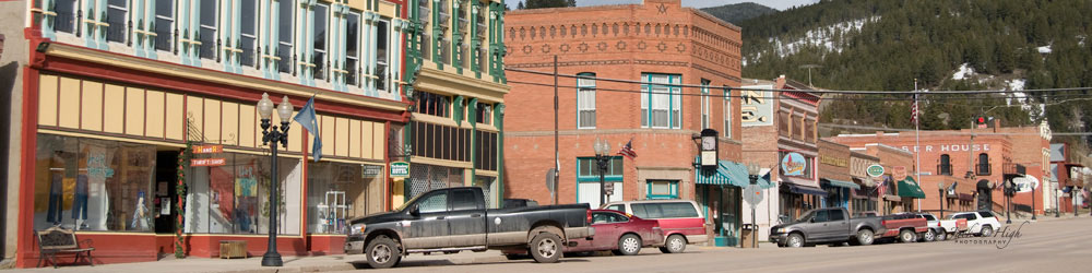 Beautiful brick buildings in downtown Montana